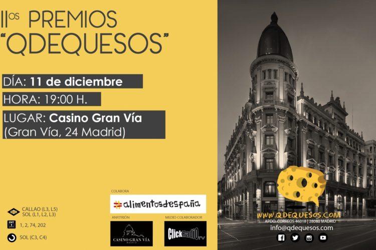 II Premios «QDEQUESOS» se entregarán el 11 de diciembre en el Casino Gran Vía